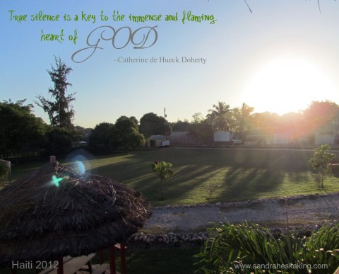sunrise over New Life Children's Home in Port au Prince