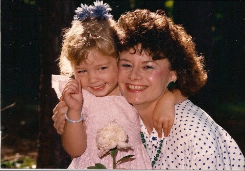 Abby and me - age 3 1