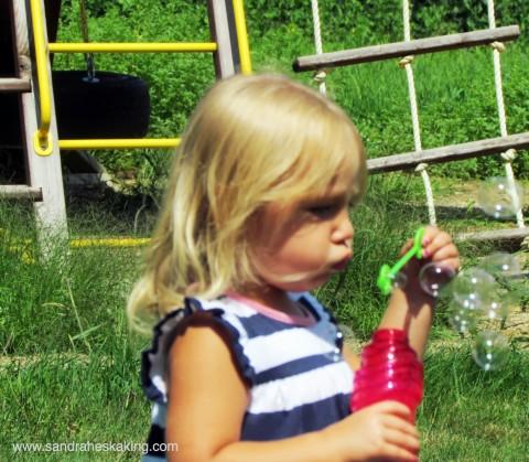 summer lilleeblowingbubbles
