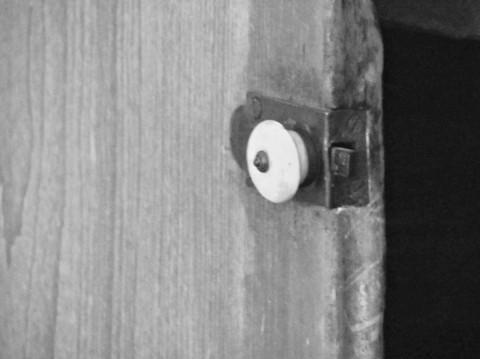 door rat cupboard bw
