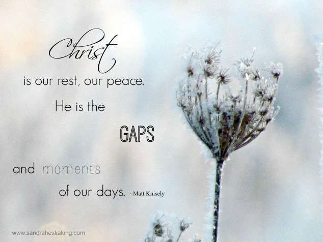 Christ is our rest