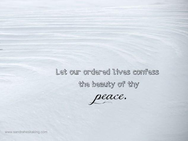 Beauty of thy Peace
